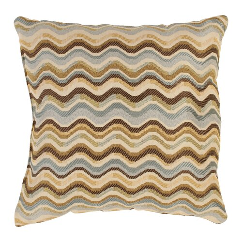 Wave Polyester Throw Pillow