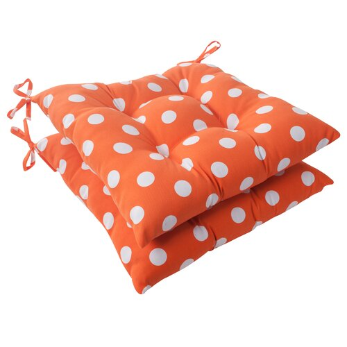 Pillow Perfect Polka Dot Tufted Seat Cushion