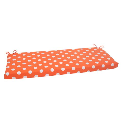 Pillow Perfect Polka Dot Bench Cushion
