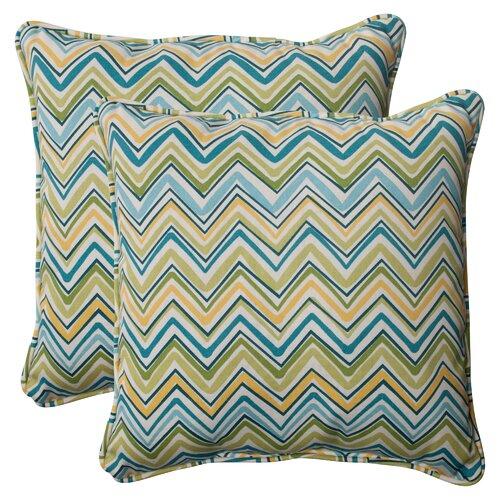 Pillow Perfect Cosmo Chevron Corded Throw Pillow
