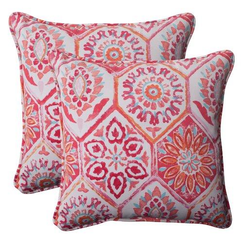 Pillow Perfect Summer Breeze Corded Throw Pillow