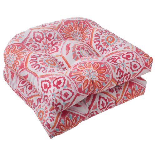 Pillow Perfect Summer Breeze Wicker Seat Cushion