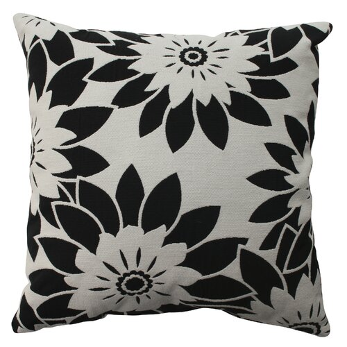 Pillow Perfect Pop Art Floral Poly / Cotton Pillow