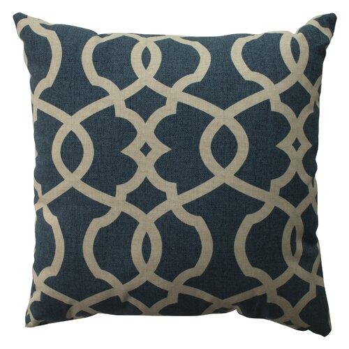 Lattice Damask Cotton Pillow