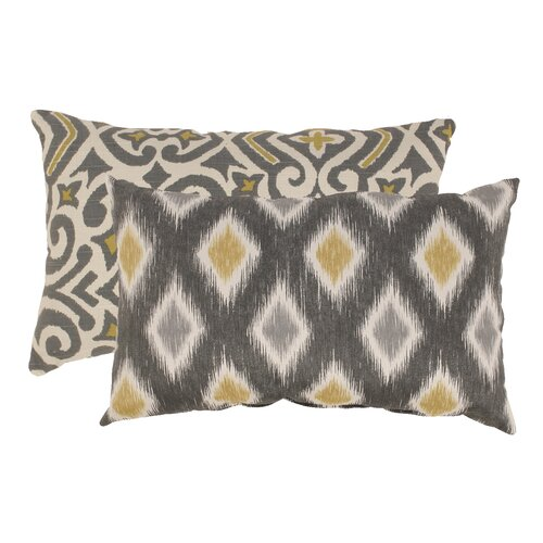 Damask and Rodrigo Rectangular Throw Pillows (Set of 2)