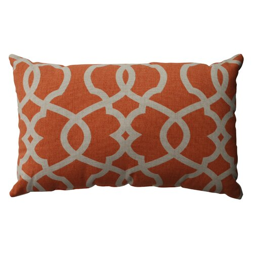 Lattice Damask Cotton Throw Pillow