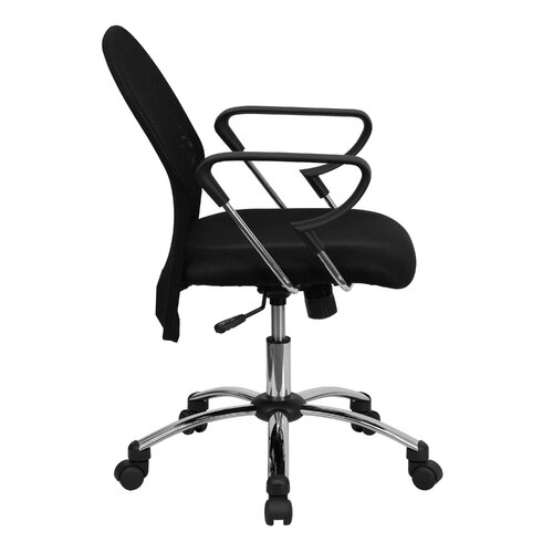 Flash Furniture Mid-Back Mesh Office Chair with Chrome Base
