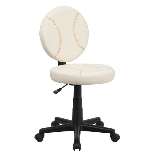 Flash Furniture Baseball Mid-Back Kid's Desk Chair