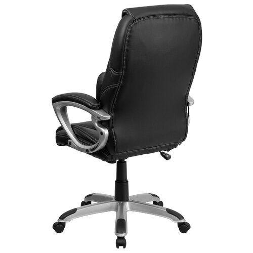 Flash Furniture High-Back Leather Massaging Executive Office Chair with Base
