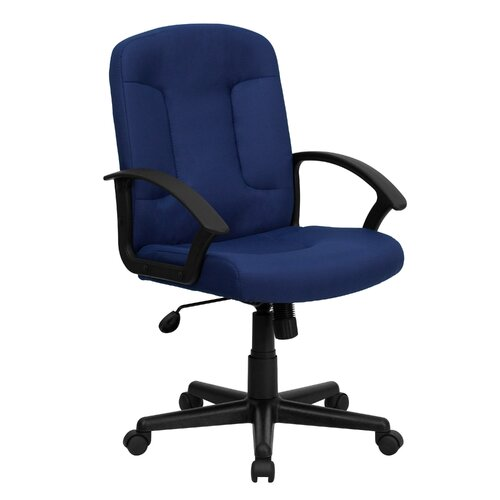 Flash Furniture Mid Back Fabric Task Chair with Nylon Arms