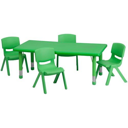 Flash Furniture Rectangular Activity Table