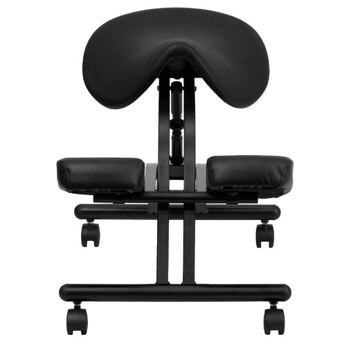 Flash Furniture Ergonomic Kneeling Chair with Saddle Seat