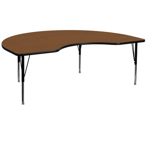 "Flash Furniture 96"" x 48"" Kidney Classroom Table"