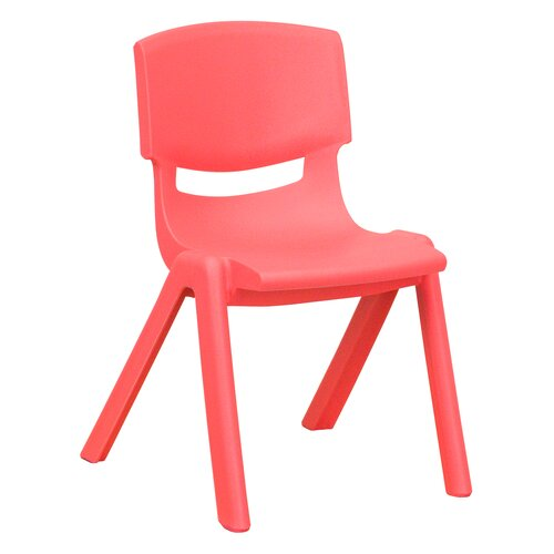 "Flash Furniture 12"" Plastic Stackable Classroom Chair"