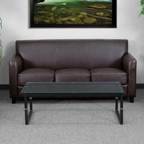 Flash Furniture Hercules Diplomat Series Leather Sofa