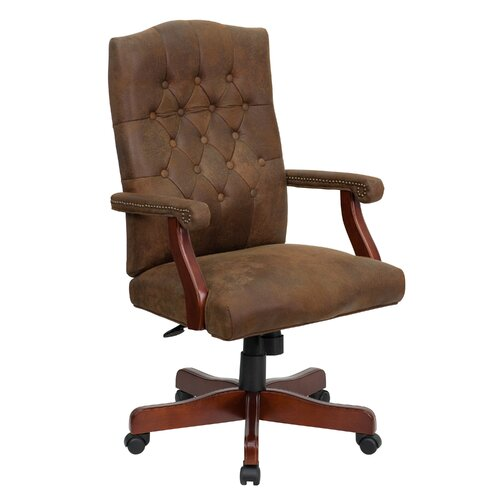 Flash Furniture High-Back Classic Executive Office Chair with Arms