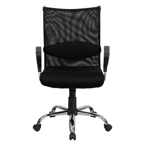 Flash Furniture Mid-Back Mesh Manager's Office Chair with Padded Seat