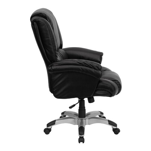 Flash Furniture Personalized High-Back Leather Overstuffed Executive Office Chair