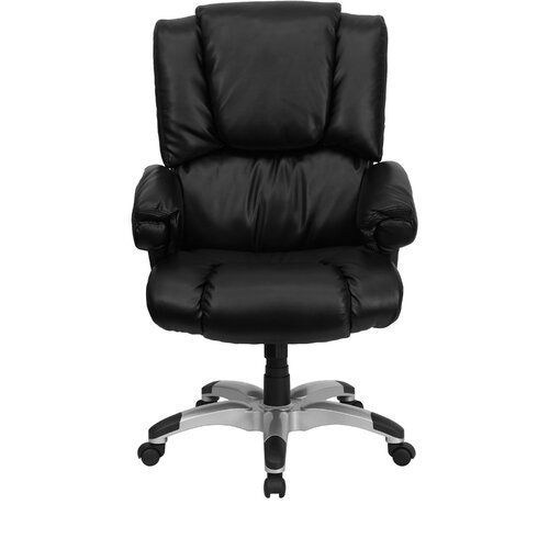 Flash Furniture High-Back Overstuffed Executive Chair with Rolled Upholstered Arms