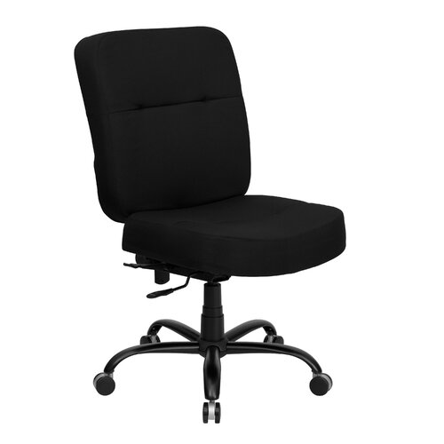 Flash Furniture Height Adjustable Hercules Series Big and Tall Fabric Office Chair with Extra Wide Seat