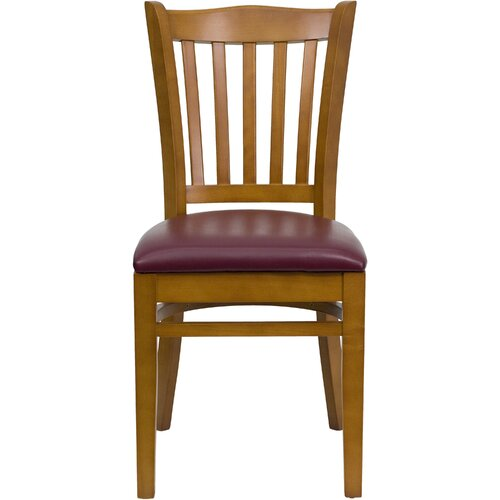 Flash Furniture Hercules Series Vertical Slat Back Side Chair