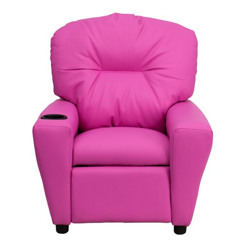 Flash Furniture Contemporary Kid's Vinyl Recliner with Cup Holder