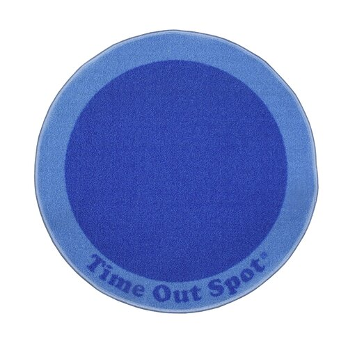 Child to Cherish Time Out Spot Blue Kids Rug