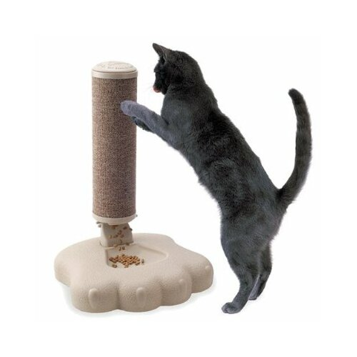 Interactive Cat Scratch Post and Food Treat Training Feeder