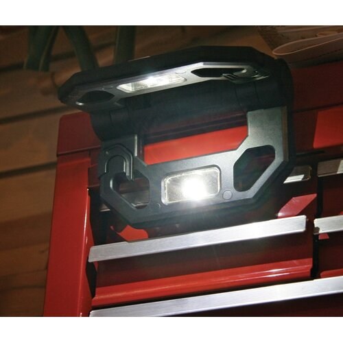 Cooper Lighting Battery Operated Folding Work Light with Bungee Cords