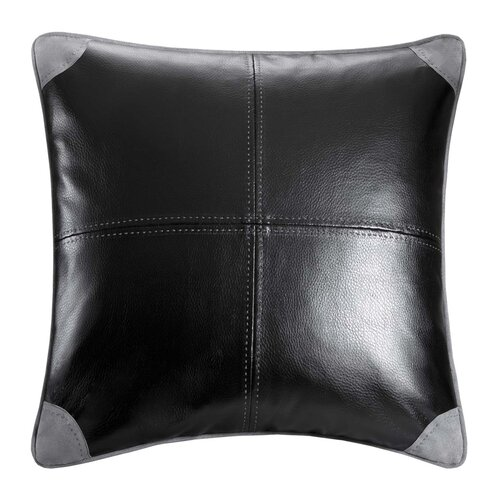 Williamsport Faux Leather Decorative Pillow