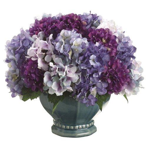 Allstate Floral Hydrangea Mix in Pedestal Bowl