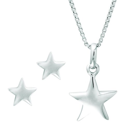 Sterling Silver Star Jewelry Set