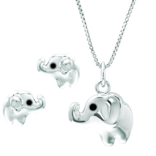 Sterling Silver Elephant Jewelry Set