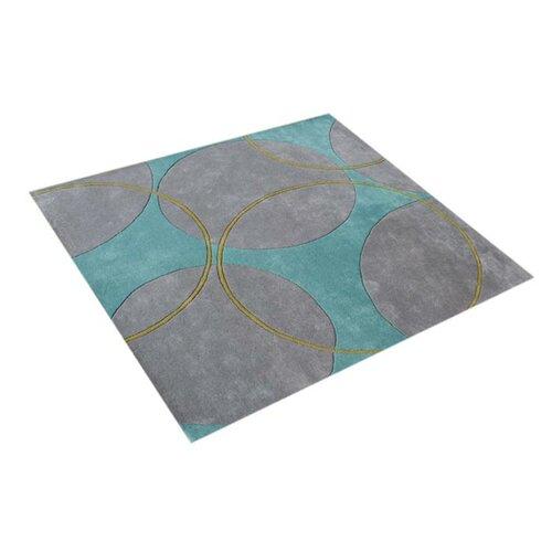 Alliyah Rugs Scandinavia Geometric Aqua Rug & Reviews