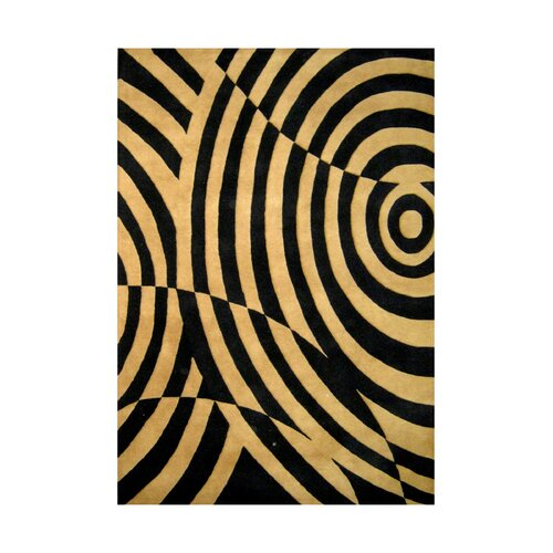 New Casanova Pavlov Geometric Black / Indian Tan Contemporary Rug