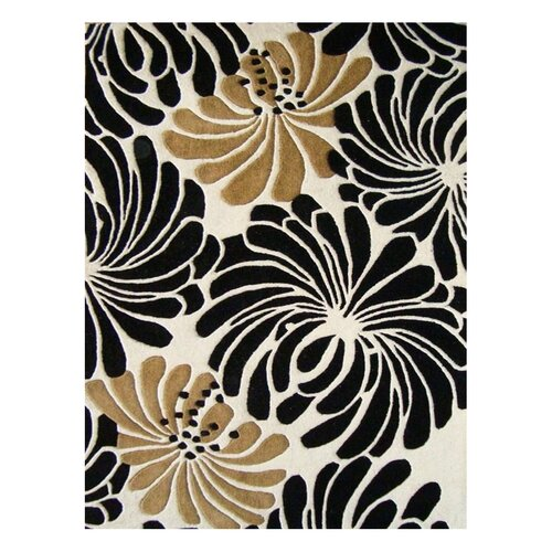 Paris Sabrina Floral Beige Contemporary Rug
