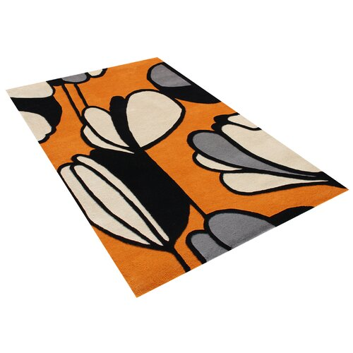 Scandinavia Geometric Soft Orange Contemporary Rug