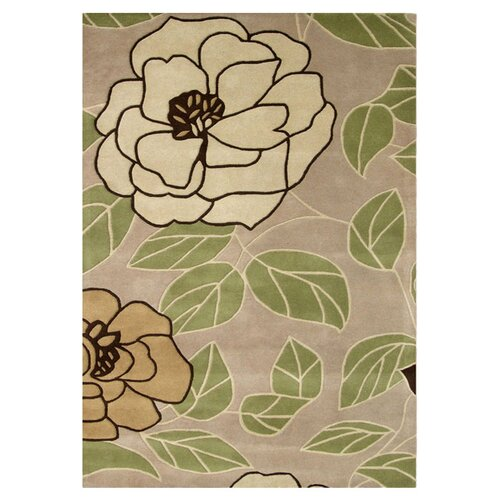 Casablanca Flower Green Oasis Contemporary Rug