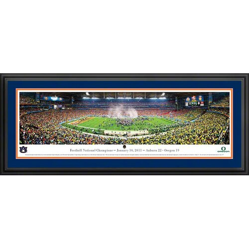 NCAA BCS 2011 - Auburn Deluxe Framed Photographic Print