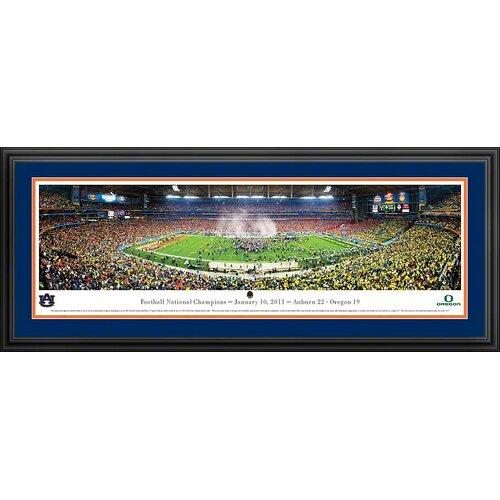 Blakeway Worldwide Panoramas, Inc NCAA BCS 2011 - Auburn Deluxe Framed Photographic Print
