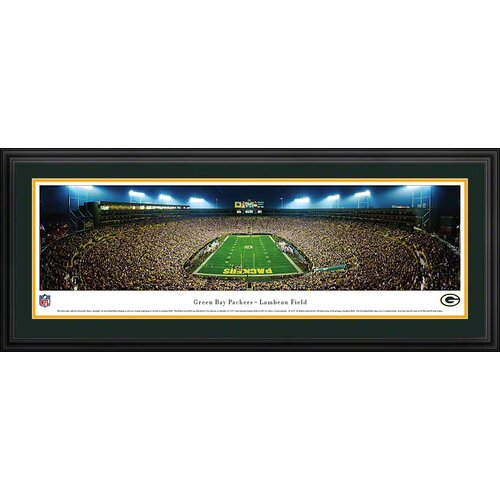 Blakeway Worldwide Panoramas, Inc NFL End Zone Deluxe Framed Photographic Print
