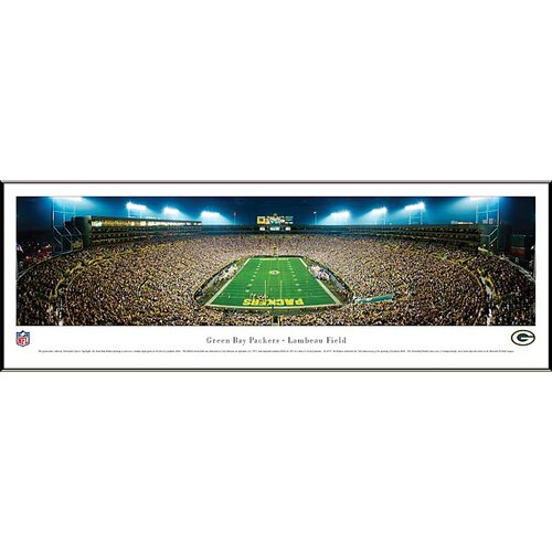 Blakeway Worldwide Panoramas, Inc NFL End Zone Standard Framed Photographic Print