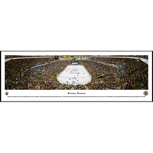 Blakeway Worldwide Panoramas, Inc NHL End Zone Standard Framed Photographic Print
