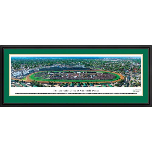 Blakeway Worldwide Panoramas, Inc Kentucky Derby at Churchill Downs Deluxe Framed Photographic Print