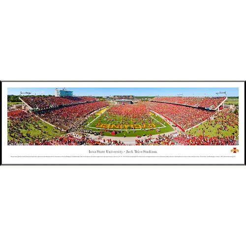 Blakeway Worldwide Panoramas, Inc NCAA Iowa State University Standard Framed Photographic Print
