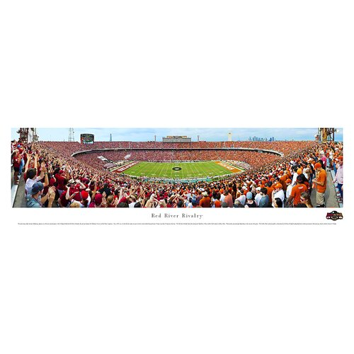 NCAA Red River Rivalry - End Zone Photographic Print
