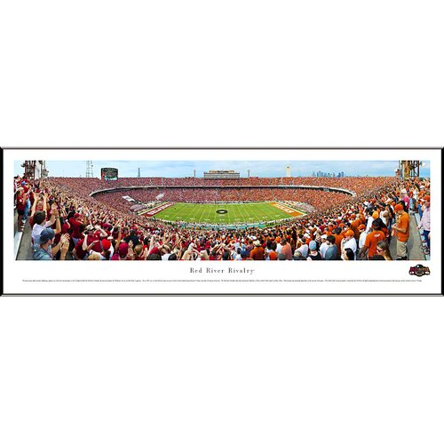 NCAA Red River Rivalry - End Zone by James Blakeway Standard Framed Photographic Print