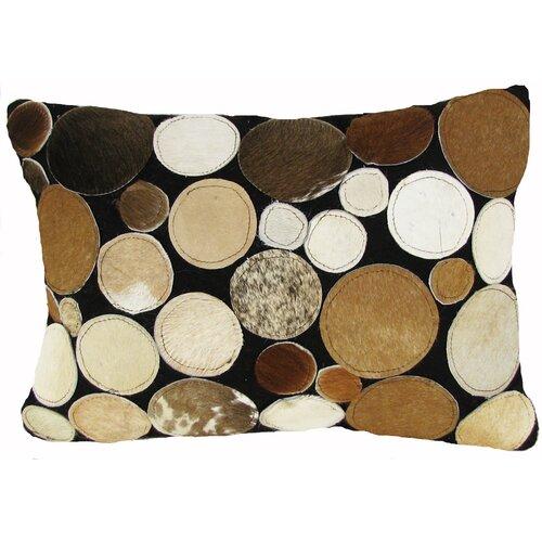 Design Accents LLC Circles Leather Pillow