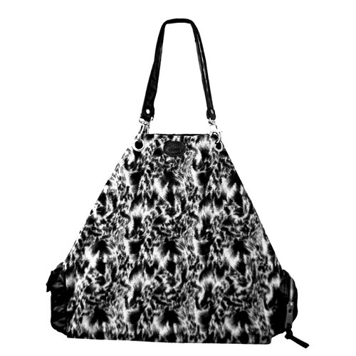 Faux Fur Swirl Satchel Tote Bag
