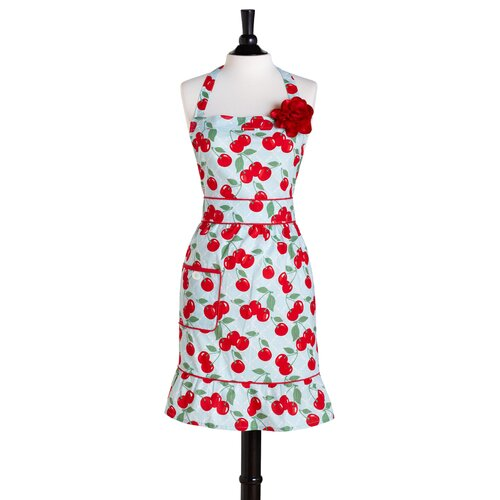 Kitchen Cherry Bib Courtney Apron